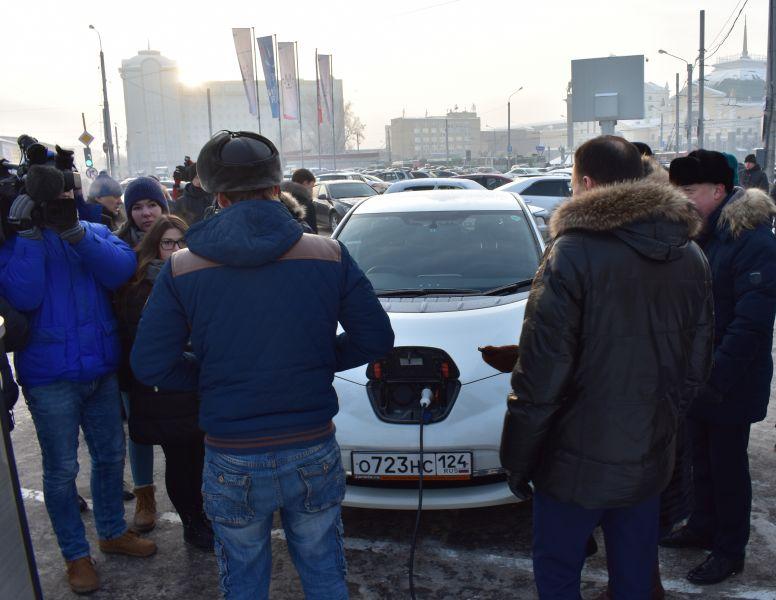 ВКрасноярске открылась первая зарядная станция для электромобилей
