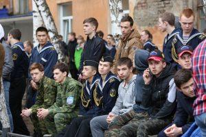 День призывника в Кировском районе Красноярска. 25 апреля 2018 года