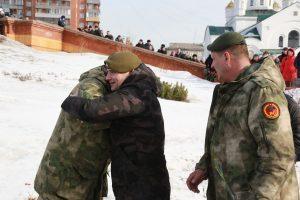 Открытие памятника бойцам спецподразделений в Красноярске. 21 февраля 2019 года