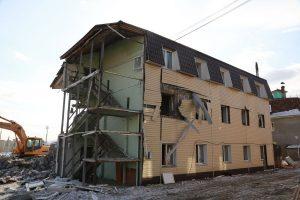 Пострадавший от взрыва дом в Красноярске готовят к сносу. 19 февраля 2019 года