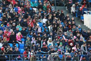 Открытие обновленного регбийного стадиона «Авангард». Еврокубок «Континентальный Щит». «Енисей-СТМ» (Красноярск) – «Тимишоара» (Румыния). 20 апреля 2019 года