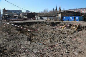 Ход реставрации в «Историческом квартале» Красноярска. 16 апреля 2019 года