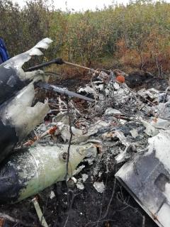 На Таймыре найден сгоревшим пропавший в августе вертолет