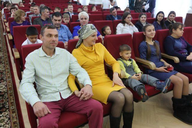 Награждение почетным знаком «Материнская слава». Красноярск. 26 ноября 2019 года