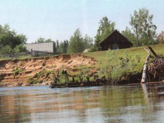 Старообрядческая деревня на берегу канала между Обью и Енисеем
