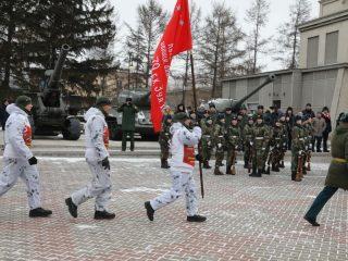 Уникальная акция военнослужащих, стартовавшая в конце января, проводится под девизом «75-летию Победы посвящается!»
