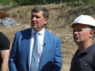 Министр спорта края Павел Ростовцев оценил ход работ.