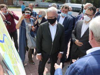 Реализацию плана подготовки города к юбилею на месте оценил губернатор края Александр Усс