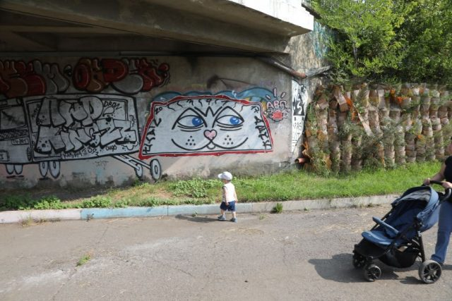 Как вандалы уродуют город. Красноярск. 12 августа 2020 года