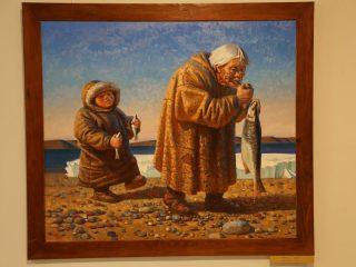 На выставке можно увидеть более 50 произведений из фонда Красноярского художественного музея имени В.И. Сурикова, из мастерской художника и частных коллекций