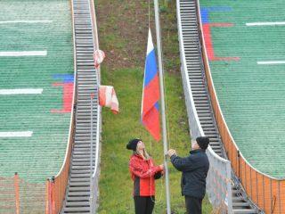 30 сентября в Красноярске на территории кластера «Сопка» прошла церемония официального открытия двух всесезонных трамплинов – HS-20 и HS-40