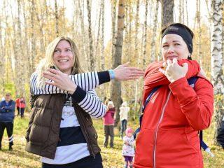 Сноубордистка Светлана Болдыкова и биатлонистка Ольга Медведцева тоже разминались перед стартом