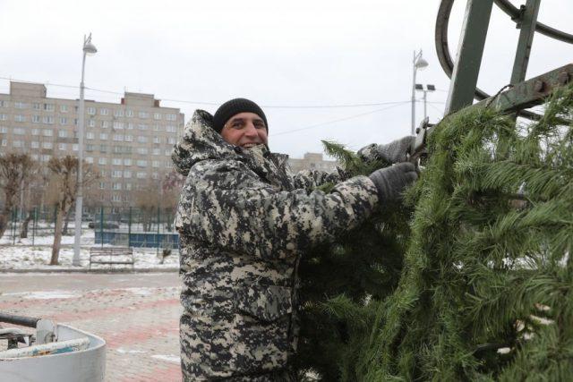 Подготовка к Новому году стартовала. Красноярск. 25 ноября 2020 года