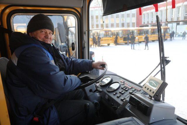 Новые школьные автобусы для территорий края. Красноярск. 2 декабря 2020 года