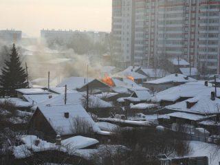 Частный дом по улице Серова, 39 загорелся около девяти часов утра 26 февраля