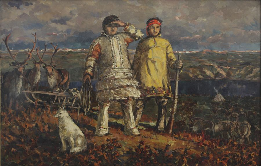 Андрей Лекаренко. Оленеводы Таймыра. 1957 г.