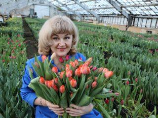 Цветы для жительниц Красноярского края