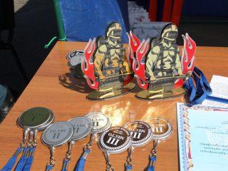 Соревнования проходили между десятью командами из пожарно-спасательных частей Красноярска