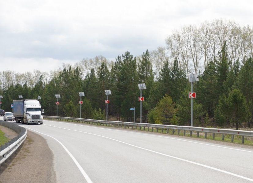 В Красноярском крае обезопасят восемь аварийно-опасных участков дорог