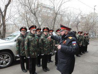 Строй красноярских кадет