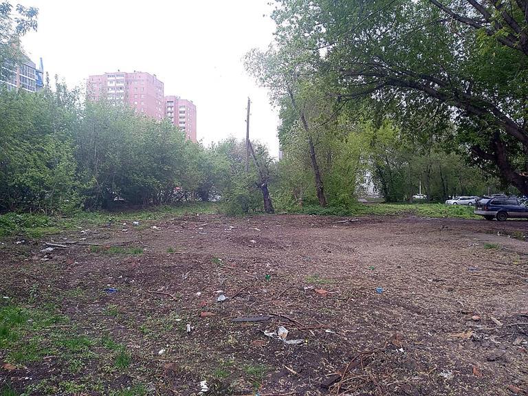 Жители Свердловского района Красноярска голосуют за сквер вместо пустыря