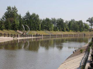 Устье реки Качи почти готово к выходу из бетонных берегов