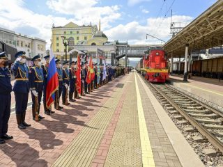 В Красноярск 15 июня прибыл воинский эшелон акции «Мы – армия страны! Мы – армия народа!»