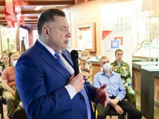 Депутат Государственной думы Юрий Швыткин поприветствовал участников телемоста