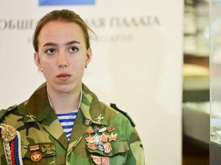 В телемосте приняли участие члены почетного караула Поста № 1 Красноярска