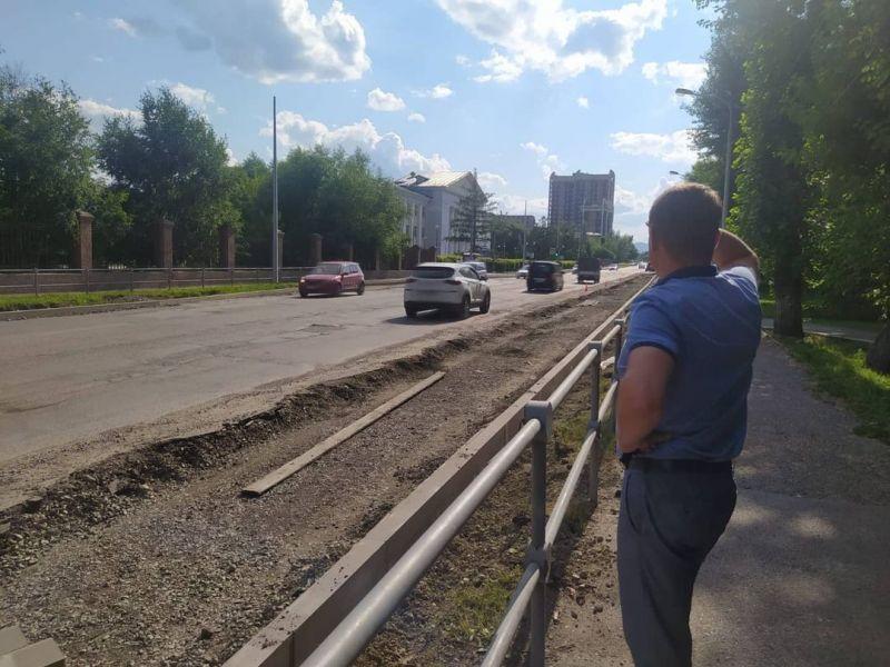 Мэр Красноярска призвал жителей улицы Павлова потерпеть неудобства от ремонта
