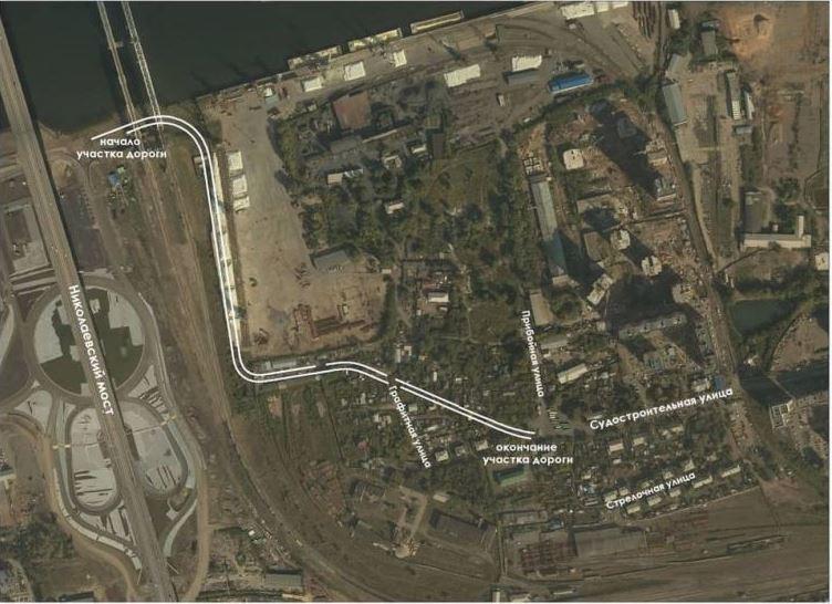 В Красноярске для строительства съезда с Николаевского моста в мкрн Пашенный зарезервировали земли