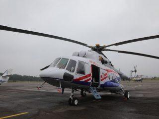 Вертолет окрасили в новом фирменном стиле региональной авиакомпании