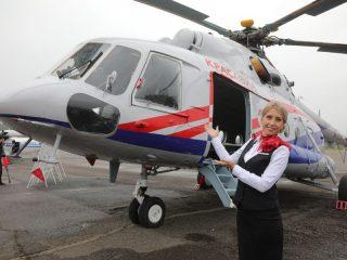 Сегодня в аэропорту Черемшанка была презентована линейка современной самолетной техники, а также новый вертолет МИ-8 МТВ-1 компании «КрасАвиа»