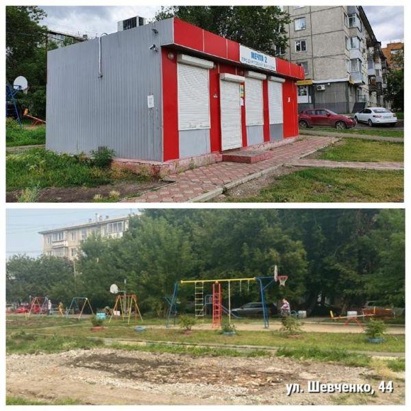 В Ленинском районе Красноярска демонтировали три алкопавильона