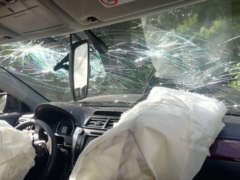 Шесть человек пострадали на трассе под Красноярском из-за непристегнутых ремней безопасности