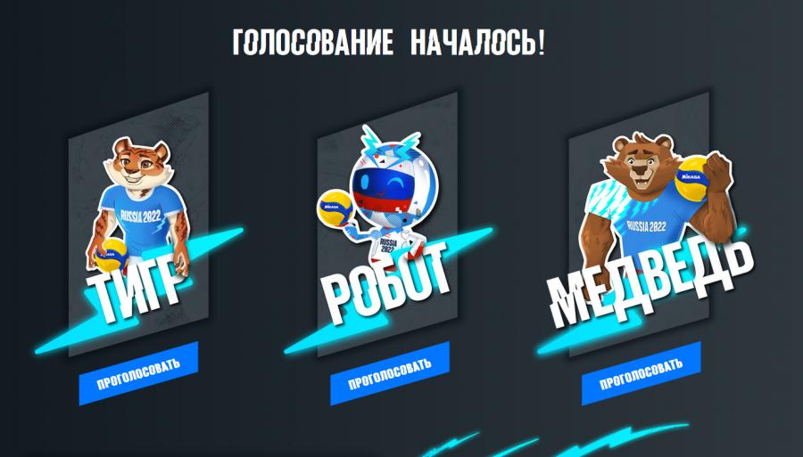 Красноярцам предлагают выбрать талисман чемпионата мира по волейболу среди мужчин