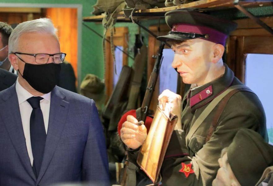 Александр Усс пообещал, что «Поезд Победы» вернется в Красноярск