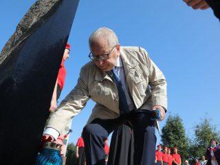 Дань памяти отдал погибшим блокадникам председатель Совета ветеранов Красноярского края Александр Андреев