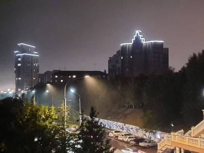 Новая световая доминанта Красноярска появилась в Железнодорожном районе