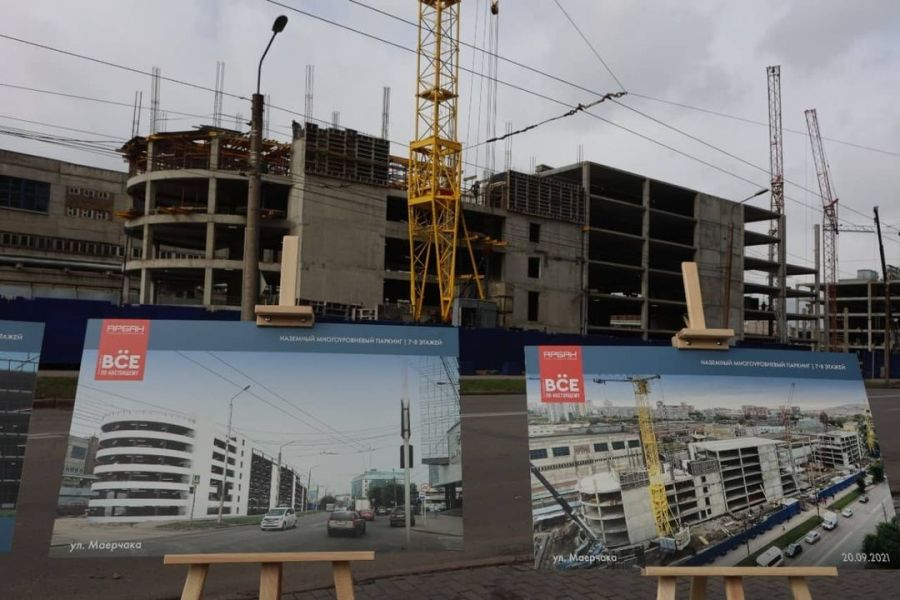 На улице Маерчака в Красноярске снесут дома и построят многоуровневую парковку