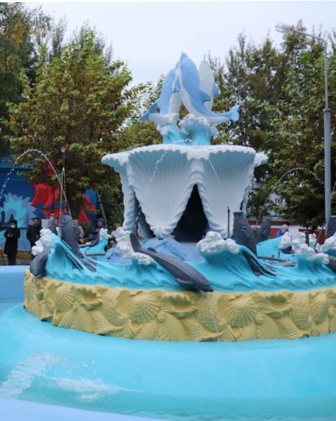 На правобережье Красноярска реконструировали один из самых старых фонтанов города