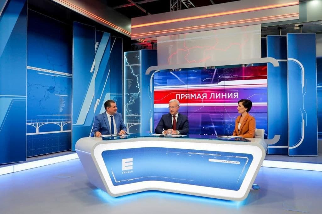 За полтора часа губернатор ответил на 23 вопроса от жителей Красноярского края